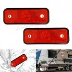 2x 12v Red LED Side Marker Lights RV Clearance Lamp