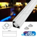 3M/300CM/3000MM Corner Alloy Channel Aluminium Bar for LED strip Light cabinet K...