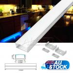 1M/100CM/1000MM Thin Alloy Channel Aluminium Bar for LED Strip Light Kitchen