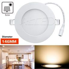 12V DC 6W Warm White Recessed Ceiling Panel Light Solar Power System With Joint Connector