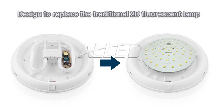 details about 12v led 2d flourescent tube replacement oyster light. Black Bedroom Furniture Sets. Home Design Ideas