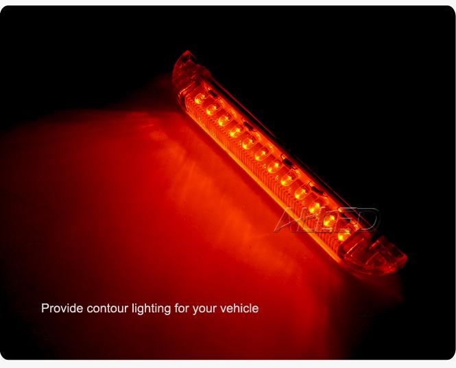 12V 154MM Amber Colour LED Hard Strip Courtesy Stairway Light Waterproof LED