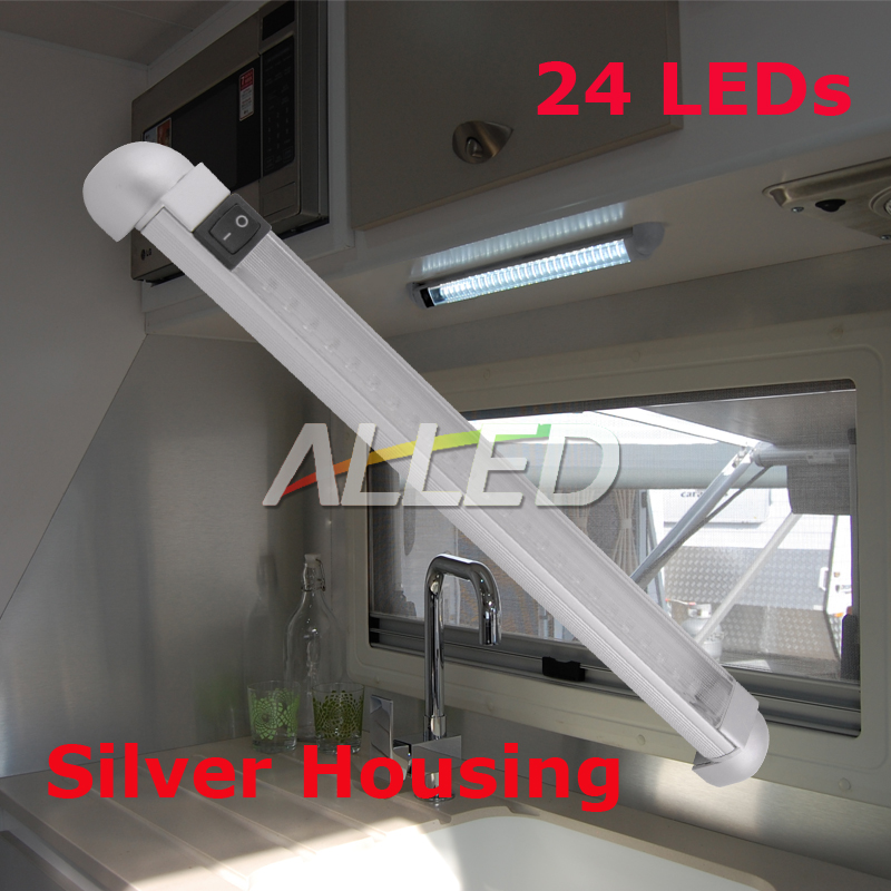 12V-Cool-White-298MM-LED-Swivel-Lamp-Boat-Strip-Car-Trailer-Cabinet-Bar-Light
