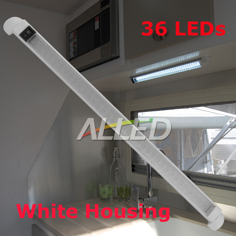 12V-460mm-Aluminum-LED-Swivel-Lamp-Boat-Car-RV-Marine-Cool-White-With-Switch