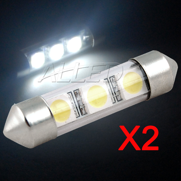 Pack of 2 Festoon 36mm 3SMD LED Bulb