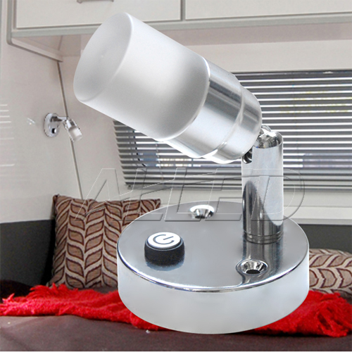 12V Swivel Crystal LED Reading Lamp Bedside Lamp Boat/Caravan/Laptop/Book/Ipad