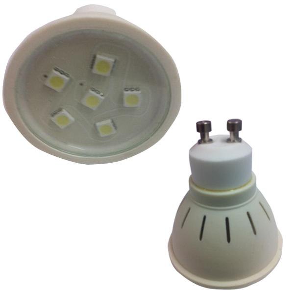 240V 2W LED GU10 Globe Cool White