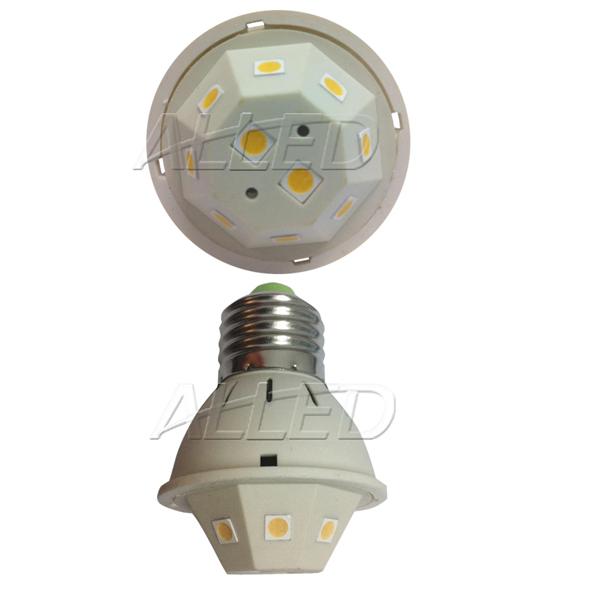 240V 4W LED E27 Globe Warm White