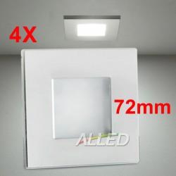 4PCS LED 12volt DC Square...