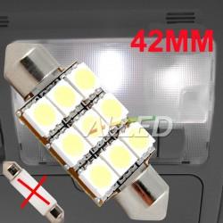 12V 42mm 9SMD LED Festoon...