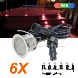 6XWaterproof 12v LED RGB...