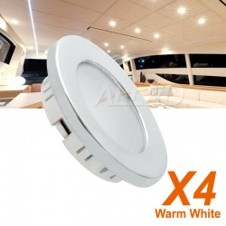 4x 12V LED Cabin Down Light...