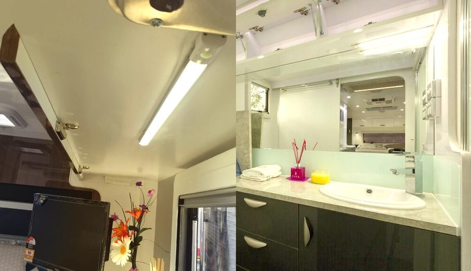 12v LED Lichtleiste Warmweiß Wohnwagen Küche Schrank Deckenlampe ...